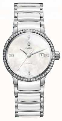 RADO Centrix SM Ladies Automatic Diamond Bezel White dial Ceramic Bracelet R30160912