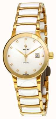 RADO Centrix Sm Ladies Automatic White and Yellow Gold PVD Bracelet Diamond White Dia R30080752