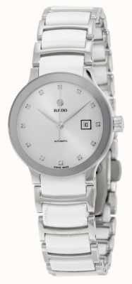 RADO Centrix SM Ladies Automatic Diamond Stainless Steel And White Ceramic Bracelet R30027732