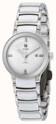 RADO Centrix SM Ladies Diamond Set White Dial White Stainless Steel Bracelet R30027712