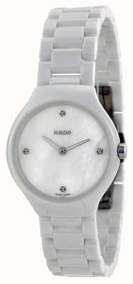 RADO True Thinline SM Ladies Quartz White Dial Diamond Ceramic R27958902