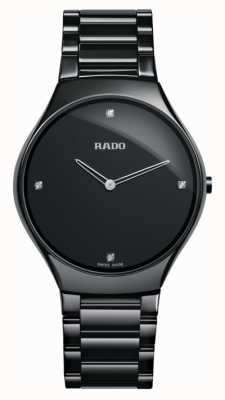RADO True Thinline L Ladies Quartz Diamond black Dial Black Ceramic Strap R27741712