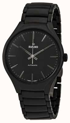 RADO True L Mens Automatic Black Dial Black Ceramic Strap R27071152