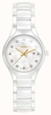 RADO True SM Quartz Diamond White Ceramic Strap White Dial R27061902