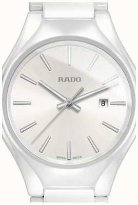 RADO True SM Ladies Quartz White Ceramic Strap White Dial R27061012
