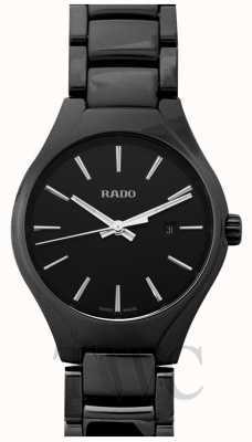RADO True SM Ladies Quarts Black Dial Black Ceramic Strap R27059152