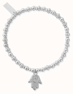 ChloBo Didi Sparkle Hamsa Hand Bracelet | Sterling Silver SBDS2005