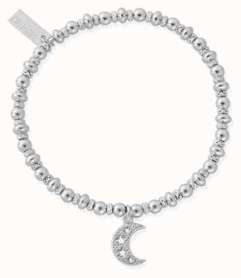 ChloBo Didi Sparkle Starry Moon Bracelet | Sterling Silver SBDS3078