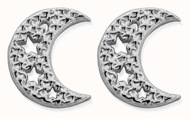 ChloBo Starry Moon Stud Earrings | Sterling Silver SEST3076