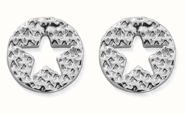 ChloBo Sparkle Star In Circle Stud Earrings | Sterling Silver SEST3072