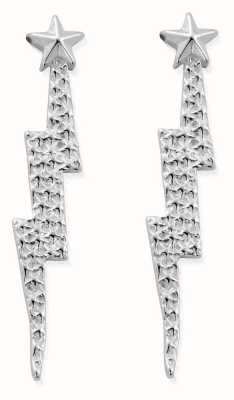 ChloBo Lightning Bolt Drop Stud Earrings | Sterling Silver SEST3079