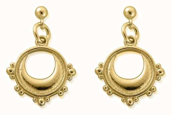 ChloBo Half Moon Drop Earrings | 18ct Gold Plated GEST4006