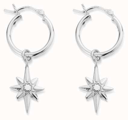 ChloBo Lucky Star Hoop Earrings | Sterling Silver SEH2066