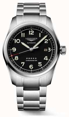 Longines Spirit Automatic 42mm Stainless Steel Black Dial L38114536