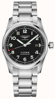 Longines Spirit 42mm Prestige Edition Stainless Steel Black Dial L38114539