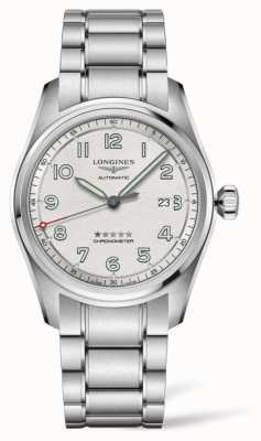 Longines Spirit 42mm Automatic Stainless Steel Silver Dial L38114736