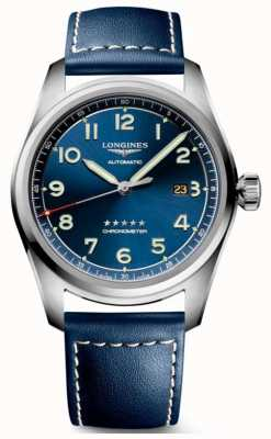 Longines Spirit Blue Dial 42mm Automatic Blue Leather L38114930