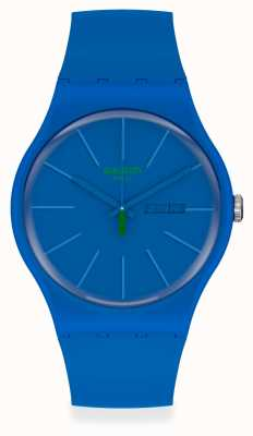 Swatch BELTEMPO | Blue Plastic Strap | Blue Dial SO29N700
