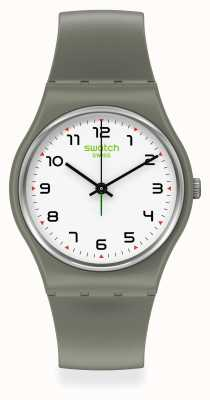 Swatch ISIKHATHI | Original Gent | Green Plastic Strap | White Dial SO28G101