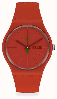 Swatch REDVREMYA | Red Plastic Strap | Red Dial SO29R700