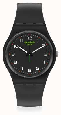 Swatch MASA | New Gent |  Black Plastic Strap | Black Dial SO28B100