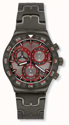 Swatch CRAZY DRIVE | Grey Stainless Steel Bracelet | Grey Dial YVM406G
