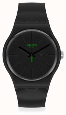 Swatch NEUZEIT | Black Plastic Strap | Black Dial SO29B700