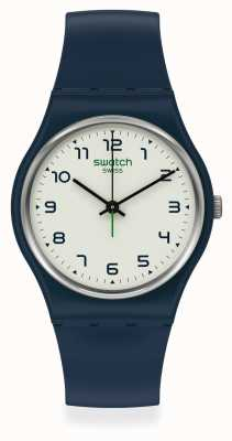 Swatch SIGAN | Navy Plastic Strap | White Dial SO28N101