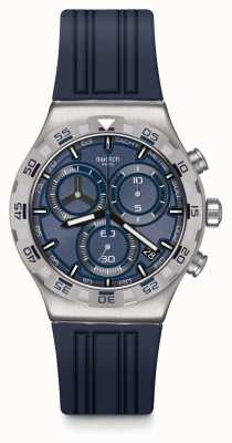 Swatch Chrono Irony | TECKNO BLUE | Blue Rubber Strap | Blue Dial YVS473