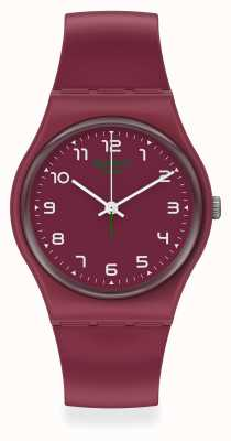 Swatch WAKIT | Burgundy Plastic Strap | Burgundy Dial SO28R103