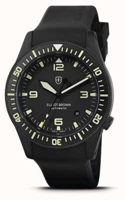 Elliot Brown Holton Automatic | Black Rubber Strap | Black Dial | 101-A10-R06