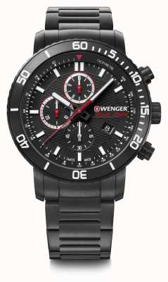 Wenger Roadster Blacknight Chrono | Black Steel Bracelet | 44mm 01.1843.110