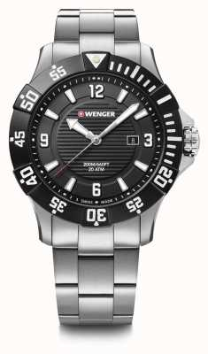 Wenger Seaforce 43mm | Stainless Steel Bracelet | Black Dial 01.0641.131