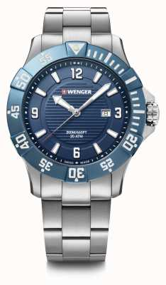 Wenger Seaforce 43mm | Stainless Steel Bracelet | Blue Dial 01.0641.133