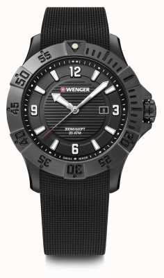 Wenger Seaforce 43mm | Black Rubber Strap | Black Dial | 01.0641.134
