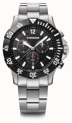 Wenger Seaforce Chrono 43mm | Steel Bracelet | Black Dial | 01.0643.117
