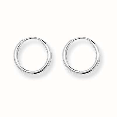 Treasure House Silver Tiny 10mm Round Sleeper Earrings G5531