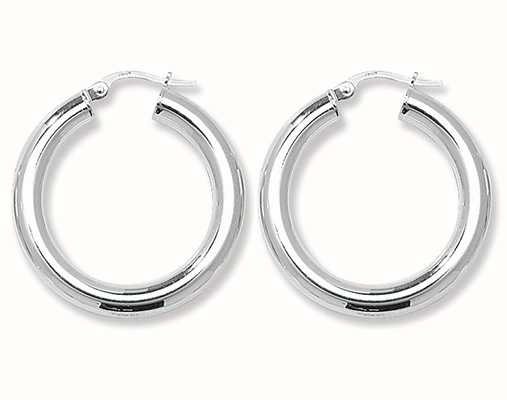 Treasure House Silver 20mm Plain Hoop Earrings G5967