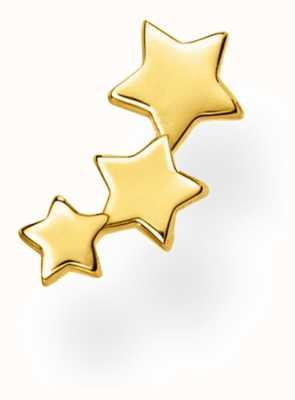 Thomas Sabo 18k Yellow Gold Single Stars Stud Earring H2142-413-39
