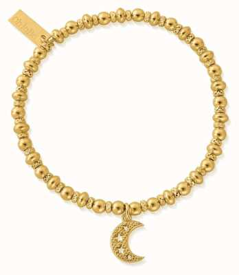 ChloBo Didi Sparkle Starry Moon Bracelet | 18ct Gold Plated GBDS3087