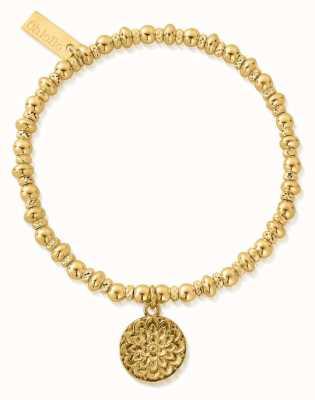 ChloBo Didi Sparkle Moonflower Bracelet | 18ct Gold Plated GBDS3090