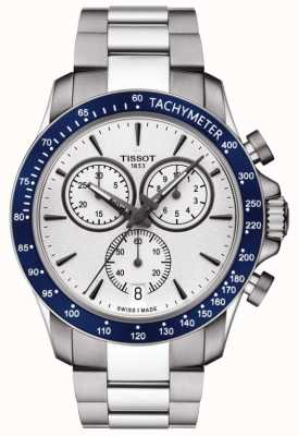 Tissot Mens V8 Quartz Chronograph White Dial Stainless Steel T1064171103100