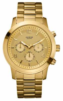 Guess Womens Gold Plated Chronograph Bracelet Watch W14043L1