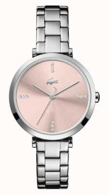 Lacoste Women's Geneva | Stainless Steel Bracelet |Rose Gold Dial 2001145