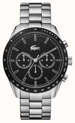 Lacoste | Men's | Boston | Stainless Steel Bracelet | Black Dial | 2011079