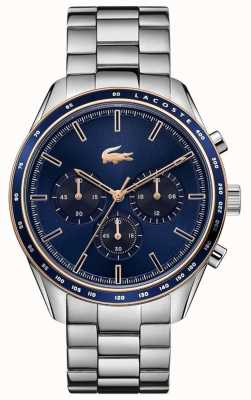 Lacoste | Men's | Boston | Stainless Steel Bracelet | Blue Dial | 2011081