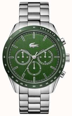 Lacoste Men's Boston | Stainless Steel Bracelet | Green Dial 2011080
