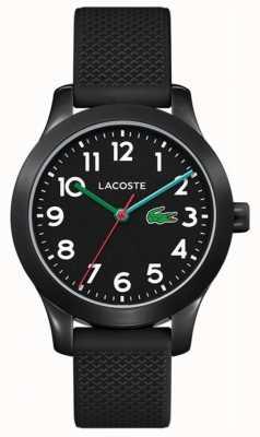 Lacoste | 12.12 Kids | Black Silicone Strap | Black Dial | 2030032