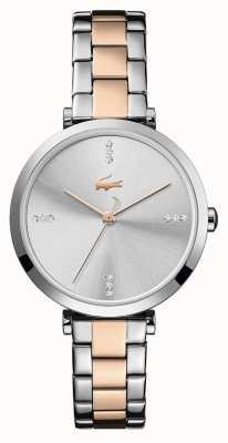 Lacoste Women's Geneva | Two-Tone Steel Bracelet | Silver/White Dial 2001143