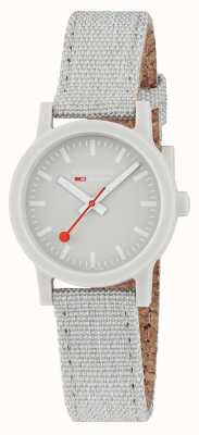 Mondaine Essence 32mm | Light Grey Textile Strap | Grey Dial MS1.32170.LK